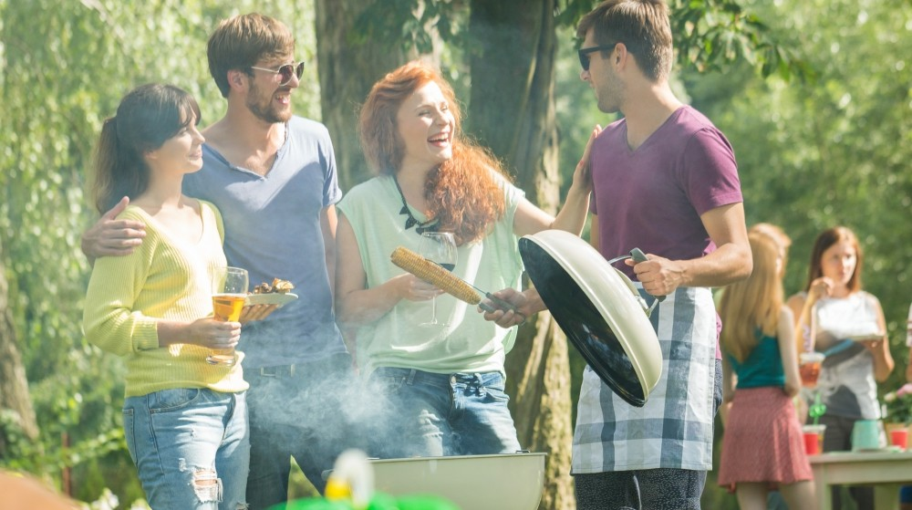Barbeque in a park